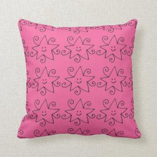 rosa Sterndruckkissen Kissen