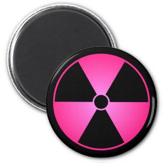 Rosa Strahlungs-Symbol Runder Magnet 5,1 Cm
