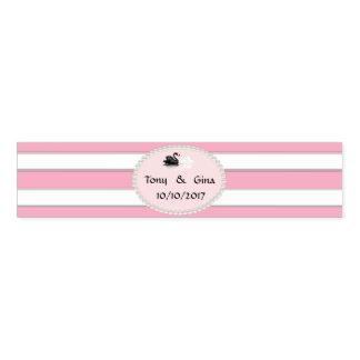 Rosa Streifen, Perlen u. Schwäne, die Serviettenband
