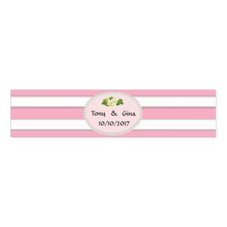 Rosa Streifen, Perlen u. Serviettenband