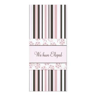 Rosa Stripes Entlaufen-Mitteilungs-Karten 10,2 X 23,5 Cm Einladungskarte