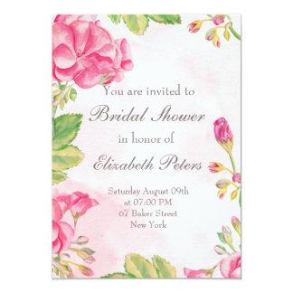 Rosa Summerflowers Brautparty-Einladung 12,7 X 17,8 Cm Einladungskarte