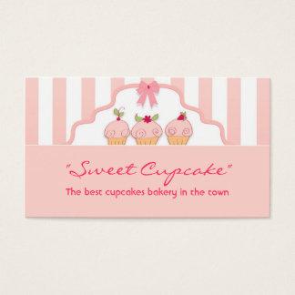 rosa süße milchige Kuchenbäckerei-Visitenkarte Visitenkarten