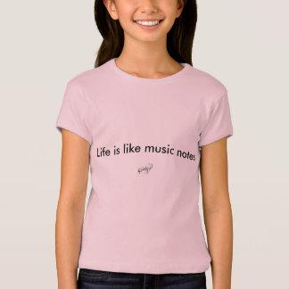 Rosa T - Shirt der Musiknotenmädchen