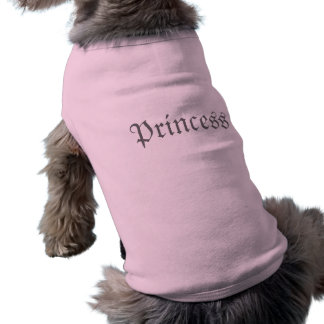 Rosa T-Shirt Prinzessin-Customizable Dog