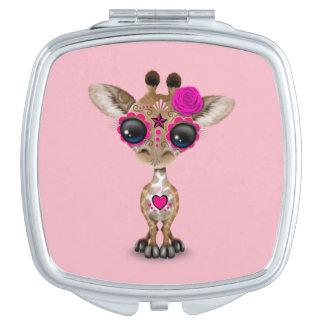 Rosa Tag der toten Baby-Giraffe Taschenspiegel