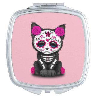 Rosa Tag des toten Kätzchens Schminkspiegel