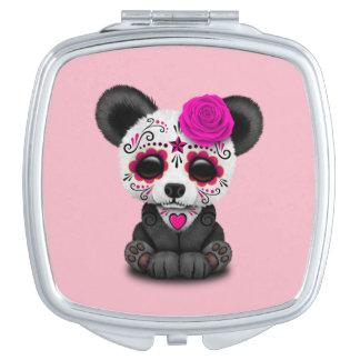 Rosa Tag des toten Pandas CUB Schminkspiegel