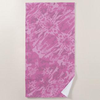 Rosa Tarnungs-Muster Strandtuch