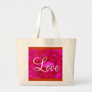 Rosa Tasche der Rosen-Liebe-II