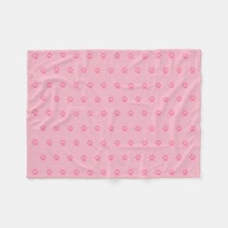 Rosa Tatzen-Druck-Fleece-Decke Fleecedecke