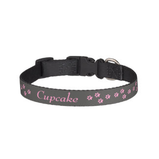 Rosa Tatzendruck Hundehalsband Haustierhalsband