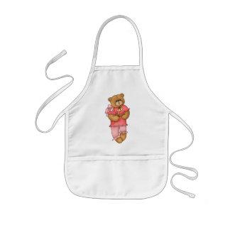 Rosa Teddybär Kinderschürze