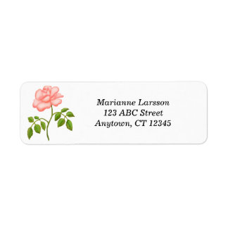 Rosa Tee-Rosen-Adressen-Etiketten