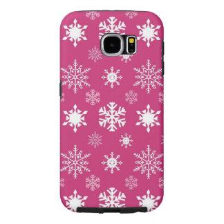 Rosa Telefon-Kasten Schneeflocke-Samsung-Galaxie-6