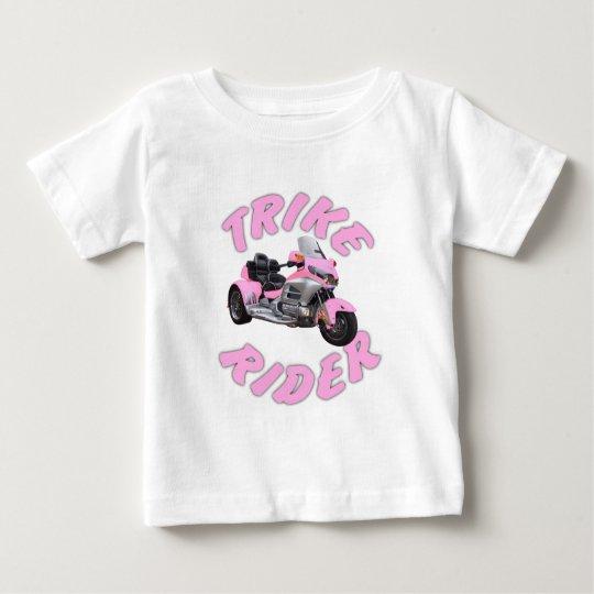 Rosa Trike Reiter Baby T-shirt