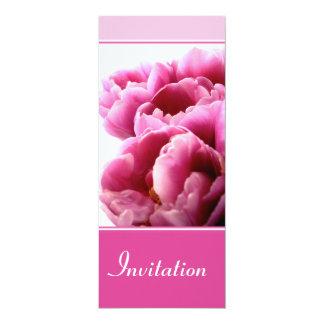 Rosa Tulpe-Einladung Karte