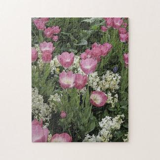 Rosa Tulpe-Puzzlespiel