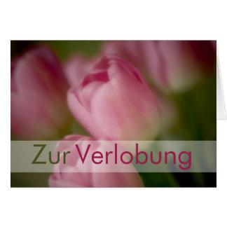 Rosa Tulpen • Glueckwunschkarte Verlobung Grußkarte