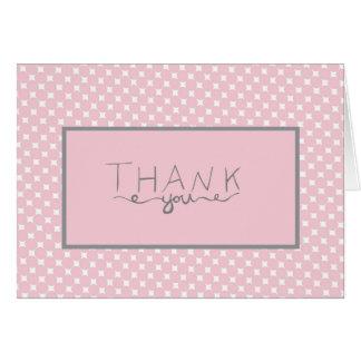 Rosa Tupfen der Babyparty danken Ihnen zu Karte