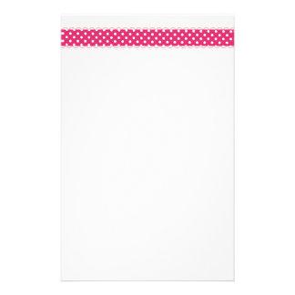 Rosa Tupfen-Grenze Briefpapier