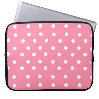 Rosa Tupfen-Laptop-Hülse Laptopschutzhülle