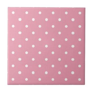 Rosa Tupfen-Muster Kleine Quadratische Fliese
