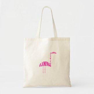 Rosa Typografie Flamingo Tragetasche