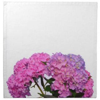 Rosa u. blaue Hydrangeas Stoffserviette