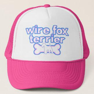 Rosa u. blauer Draht-Foxterrier Truckerkappe