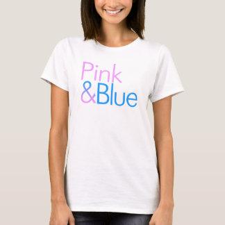 ROSA u. BLAUES T-Shirt