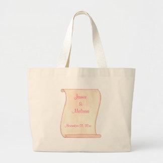 Rosa u. Brown-Rolle, Wedding Taschen-Taschen Jumbo Stoffbeutel