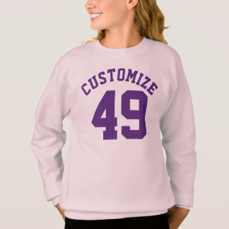 Rosa u. dunkler lila Sport-Jersey-Entwurf der Sweatshirt