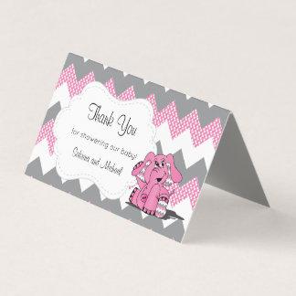Rosa u. graue Zickzack Süßigkeits-Deckel des Visitenkarten