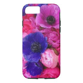 Rosa u. lila Pfingstrosen-u. iPhone 7 Hülle