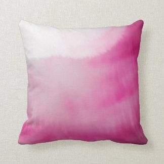 Rosa-u. weißeflüssigkeits-Farbmoderne Aquarelle Kissen