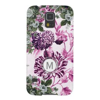 Rosa Überfluss-Blumengarten-Monogramm Samsung S5 Hülle