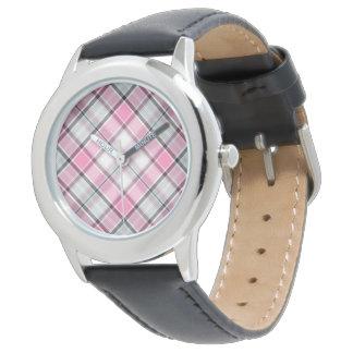 rosa Überprüfung entworfene Uhr