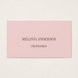 Rosa unbedeutende berufliche Geschäftskarte Visitenkarte