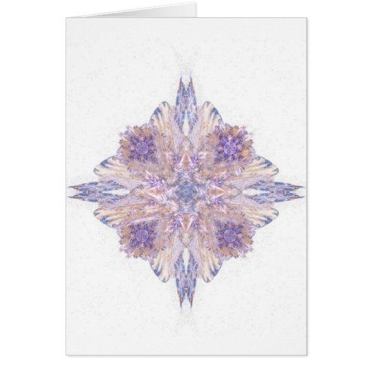 Rosa und blaue Diamant-Fraktal-Kunst Karte