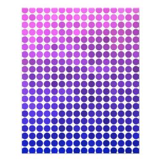 Rosa und blaue Punkte 11,4 X 14,2 Cm Flyer