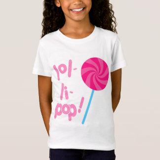 Rosa und blauer Lutscher T-Shirt