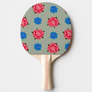 Rosa und blaues Muster auf Klingeln Pong Paddel Tischtennis Schläger