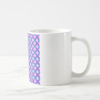 Rosa und blaues Muster Kaffeetasse