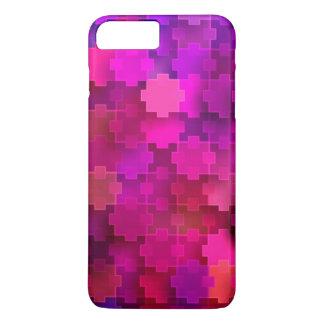 Rosa und blaues quadratisches Puzzlespiel bessert iPhone 8 Plus/7 Plus Hülle