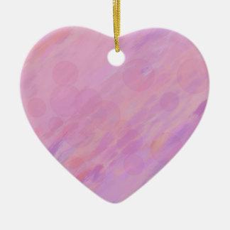 Rosa und Flieder abstrakt Keramik Herz-Ornament