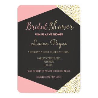 Rosa und Goldeinladungs-Brautparty bezaubernd 12,7 X 17,8 Cm Einladungskarte