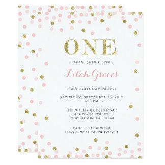 Rosa und Golderste Geburtstags-Einladungen 12,7 X 17,8 Cm Einladungskarte