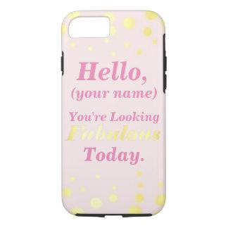 Rosa und Goldfabelhafter Handy-Fall iPhone 8/7 Hülle