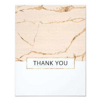 Rosa und Goldmarmorhochzeit danken Ihnen - Ebene Karte